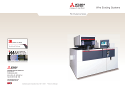 FA-S Advance Catalogue - Mitsubishi Electric EDM