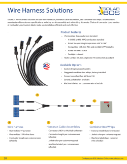 2015 SolarBOS Wire Harness Solutions 1