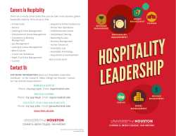Contact Us Careers In Hospitality