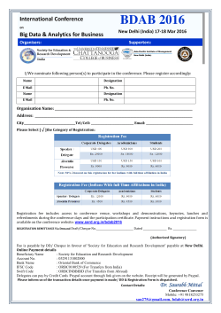 Registration Form BDAB 2016