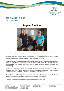 MEDIA RELEASE Surplus furniture