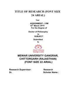 24 ARIAL) - Mewar University