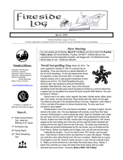 Newsletter - Fireside Story League