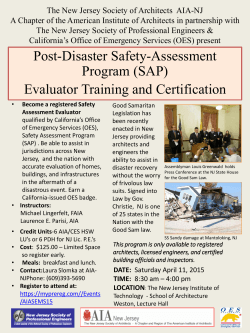 Become a registered Safety Assessment Evaluator and be prepared
