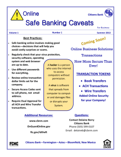 Safe Banking Caveats
