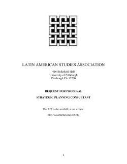 Strategic Planning Consultant - Latin American Studies Association