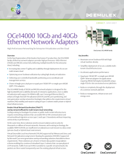 OneConnect 14000 Ethernet Network Adapters