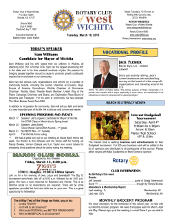 Western Flyer Newsletter - Rotary Club of West Wichita
