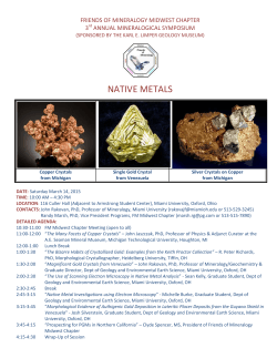NATIVE METALS - Friends of Mineralogy