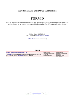Turner International Growth, L.P. Form D Filed 2015-03-12