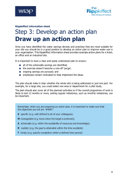 Draw up an action plan