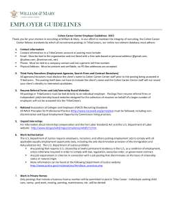 EMPLOYER GUIDELINES - College of William and Mary