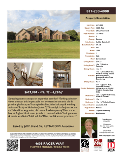 Flyer - Southlake Real Estate