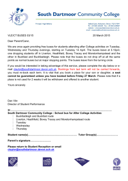 Late bus letter Summer 2015 - South Dartmoor Community College