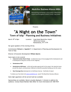 """A Night on the Town"" - MacArthur Business Alliance"