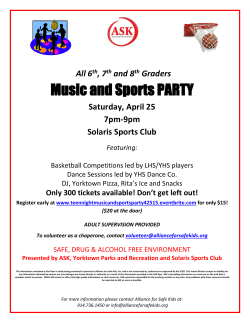 Music and Sports PARTY
