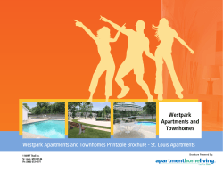 Westpark Apartments and Townhomes Printable Brochure