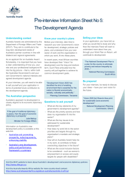 The Development Agenda