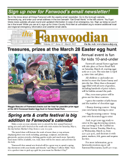 Sign up now for Fanwood`s email newsletter!