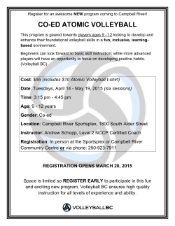info - Campbell River CRUSH Volleyball Club