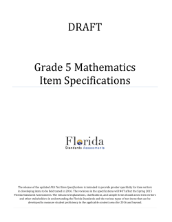 Grade 5 Mathematics Test Item Specifications