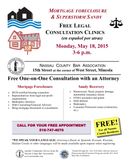 Monday, May 18, 2015 3-6 p.m. Free One-on