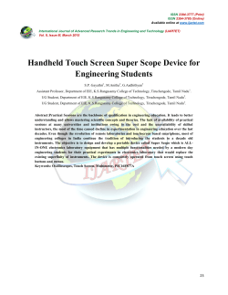 Handheld Touch Screen Super Scope Device for Engineering