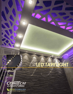 LED TAPELIGHT - ConTech Lighting