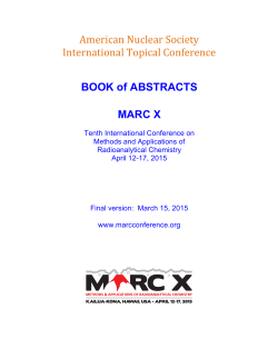 MARC X Abstract Book