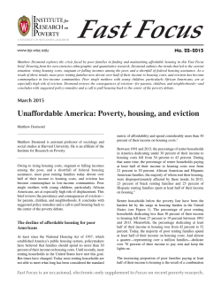 Unaffordable America: Poverty, housing, and eviction