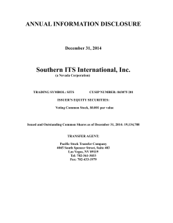 southern its international, inc.