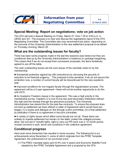 CFA bargaining bulletins 8,7 - Capilano University Faculty Association