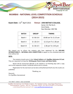 NAVI MUMBAI ��� NATIONAL LEVEL COMPETITION