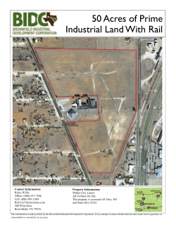 50 Acres of Prime Industrial Land With Rail