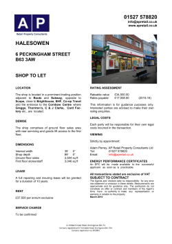 Particulars 6 Peckingham Street, Halesowen March 2015