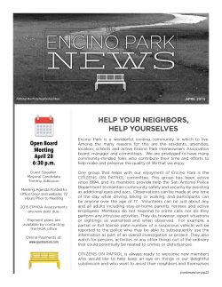 Encino Park Town Hall Meeting