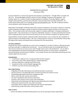 Administrative Assistant, Vancouver Office.