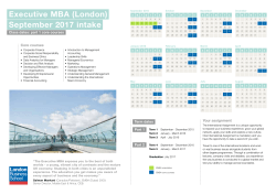 the Executive MBA London January 2015 programme