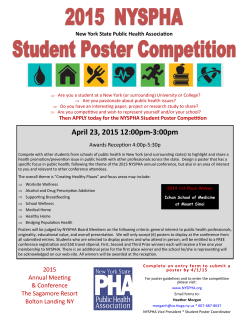 NYSPHA Student Poster Competition