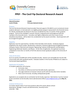 PPEF - The Cecil Yip Doctoral Research Award
