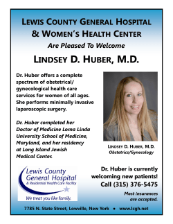 & WOMEN`S HEALTH CENTER - Lewis County General Hospital