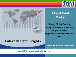 Yeast Market - Global Industry Analysis and Opportunity Assessment 2014