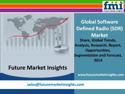 Software Defined Radio (SDR) Market: Global Industry Analysis and Opportunity Assessment 2014