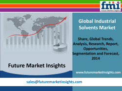 Industrial Solvents Market: Asia Pacific Industry Analysis and Opportunity Assessment 2014