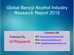 Global Benzyl Alcohol Market 2015 Industry Trend, Analysis, Survey and Overview