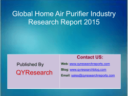 Global Home Air Purifier Market 2015 Industry Trend, Analysis, Survey and Overview