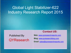 Global Light Stabilizer-622 Market 2015 Industry Trend, Analysis, Survey and Overview