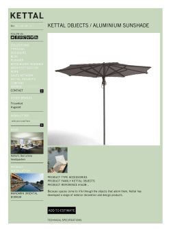KETTAL OBJECTS - Aluminium sunshade