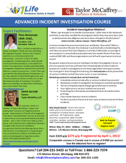 advanced incident investigation course