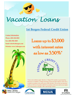 Vacation Loans - 1st Bergen Federal Credit Union